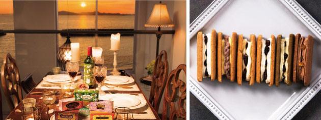 かをりが展開する「時空を結ぶホテル」がテーマの洋菓子ブランド「Huffnagel(フフナーゲル)」。