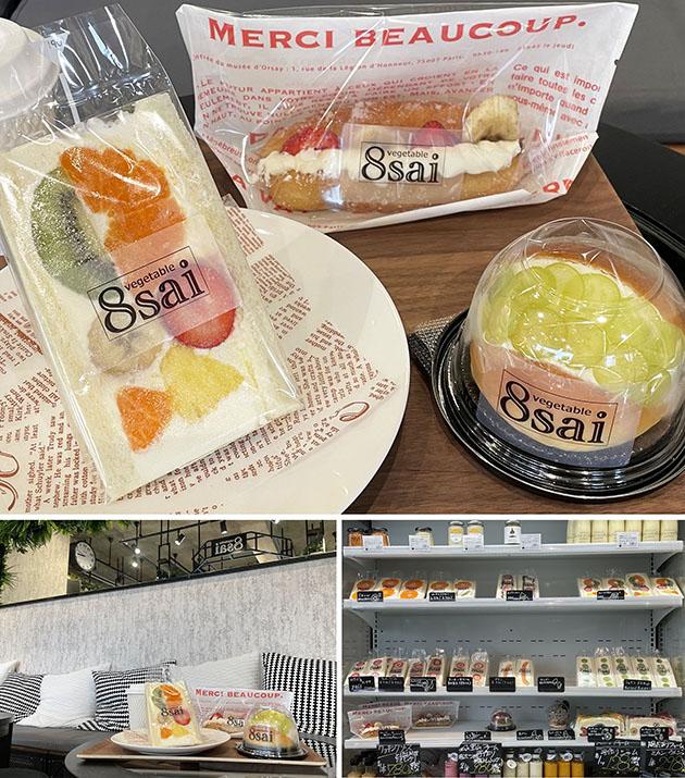 8saiのフルーツサンドやデザート