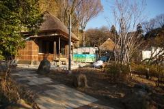 拡張整備中の旧藤本家住宅