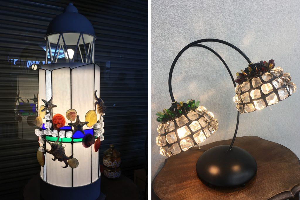 ステンドグラススタジオ アド・ワークス ステンドグラスのランプ