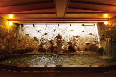 24時間利用できる温泉大浴場