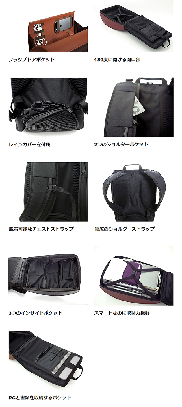 BLAUDESIGN Backpack の多彩な機能