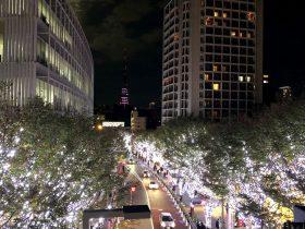 六本木 けやき坂 東京タワーとイルミネーション