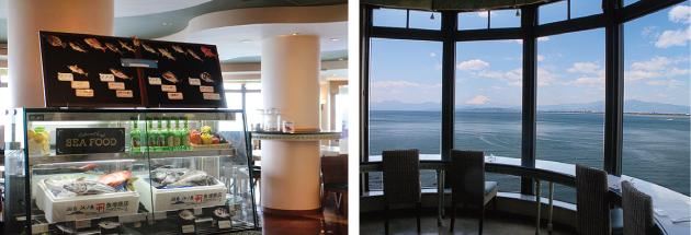 海と富士山が一望できる アイランドグリル