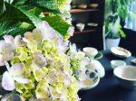 茅ヶ崎にある和食器店 日日器さんに飾られた紫陽花