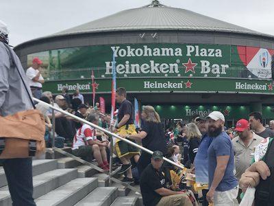 ラグビーワールドカップ 大会3日目横浜国際競技場