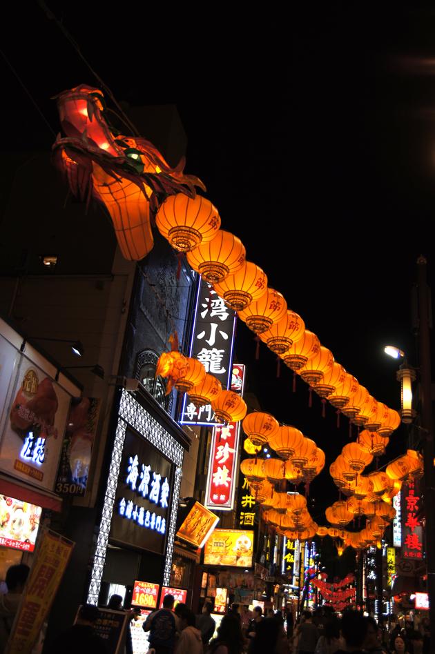中華街を彩る2020春節燈花のイルミネーション2019
