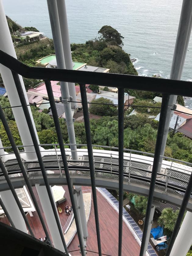 江の島 シーキャンドル階段からの眺め