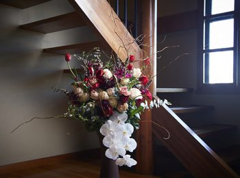 レッドムーン階段下の花