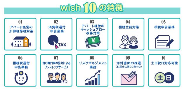 wish会計事務所 10の特徴