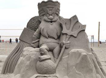 キングベルI世の砂像