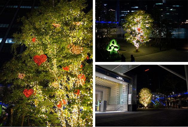 横浜グランゲートのハートのツリー