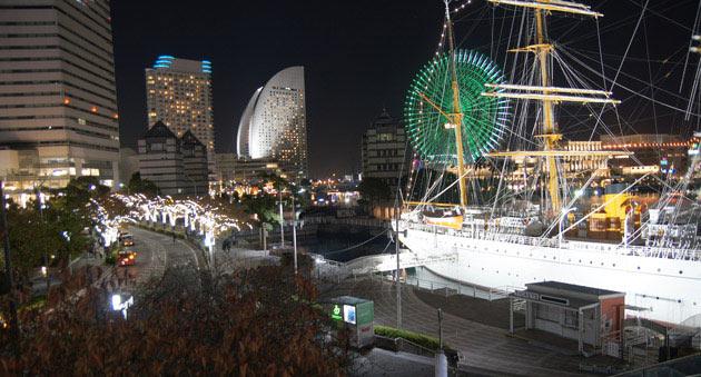 ヨコハマミライト 2020 日本丸と さくら通り