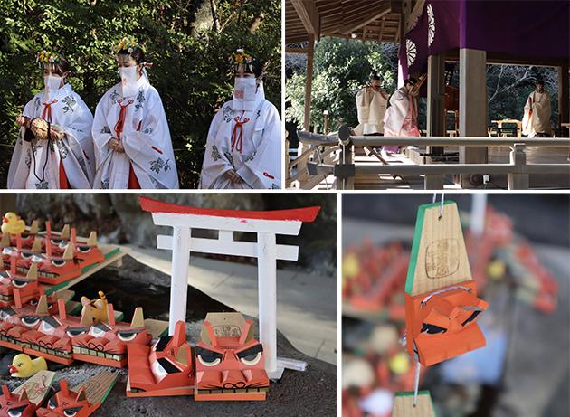 鎌倉宮節分の祭典、手水舎